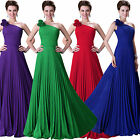 Rucked Lady Pleated Long Chiffon Evening Party Ball Cocktail Formal Prom Dress