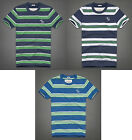 NWT Abercrombie and Fitch Men's Newcomb Lake Tee T-Shirt Stripes -- M L XL XXL