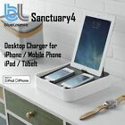 BlueLounge Sanctuary4 Desktop Charger iPhone 7 8 Plus iPad Air Mini Stand Case