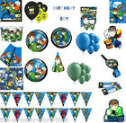 BEN 10 Boys Birthday Party Plates Cups Napkins Tablecover Balloons Banners Loots