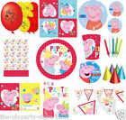 PEPPA PIG Birthday VALUE Party Plates Cups Napkins Tablecover Loots Invites