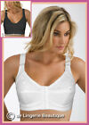 FRONT FASTENING BRA White Cotton with Lace  Non Wired Non Padded 34-44  B-E Cup