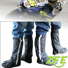 Black Reflective Motorcycle Rain Boot Covers Waterproof Biker Shoes Size EU38-47