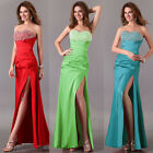 Sexy Lady Formal Evening Bridesmaid Prom Party Ball Long Split Dress Multi-Color