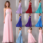 Glam Ladies One Shoulder Formal Ceromony Evening Party Long Prom Bridal Dresses