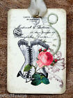 Hang Tags  FRENCH FASHION ROSE CORSET TAGS or MAGNET #553  Gift Tags