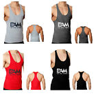 DAM Lifting Gym Training Singlet RACERBACK Weight Bodybuilding Stringer Top Tank