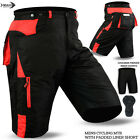 Mens Cycling MTB Shorts Cycle Off Road With Coolmax Padded Liner Shorts Black