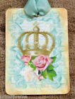 Hang Tags  FRENCH CROWN PINK ROSE TAGS or MAGNET #24  Gift Tags