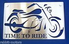Cruiser Motorbike Wall Clock Plaque Stainless Steel      REDUCED - LAST CHANCE -