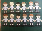 School Boy or Girl  in Summer Uniform 9cm Scrapbook / Card making Toppers