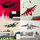 Aeroplane Wall Stickers! Removable Fighter Jet Transfers, Boys Bedroom Army Art