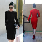Super Sale Pencil Slim Dress Lady Formal Celeb Club Ball Gown Prom Party Newest
