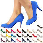NEW LADIES STILETTO HIGH HEELS COURT OFFICE SMART PARTY EVENING SHOES SIZE 3-8