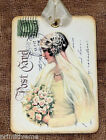 Hang Tags  VINTAGE BRIDE WEDDING POSTCARD TAGS or MAGNET #587  Gift Tags