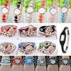 Rhinestone Lady Watches Punk Chain Watches Synthetic Leather Punk Rivet Watch