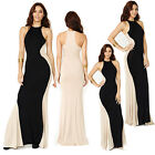Elegant Ladies Long Maxi Sleeveless Splicing Bodycon Ball Gown Prom Dresses