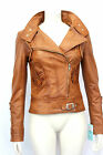 ANGEL LADIES GIRLS DESIGNER  SOFT ITALIAN CHERRY TAN BROWN LEATHER  JACKET