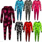 Kids Girls Boys Skull & Cross Bone Print Halloween Onesie All In One Jumpsuit