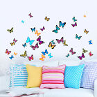 Butterfly Flutter Multicoloured Printed Art Vinyl Wall Stickers - 38 Butterflies