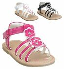 NEW Baby Toddler Girls Flower Strappy Gladiator Velcro Buckle Sandal Size 3 to 8