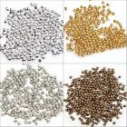 500Pcs Lot New Silver/Golden/Nickel/Copper Plated Round Spacer Beads 2mm