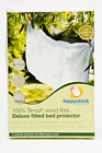 NEW. Hippychick TENCEL Waterproof Fitted Sheet. Single, Double or King. White.