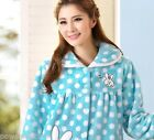 Gentle Elegant Cartoon Big Bapel Thicken Household Suit Women Sleepwear