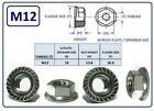 M12 - 12MM STAINLESS STEEL HEXAGON FLANGE NUT GRADE 304 A2 SERRATED FLANGE NUT