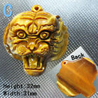 Natural Tiger's Eye Stone Powerful and domineering Tiger head Amulet Pendant