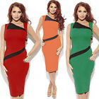 Womens Celebrity Office Style Business Slim Fit Hip-Wrapped Bodycon Pencil Dress