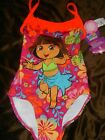 1 Piece Dora The Explorer Boots Girl Toddler Swimsuit Bathing Suit Size 4 / 5 NEW