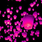 Pink Flying Chinese Sky Lanterns Lantern Eco Friendly Soar 1 Mile on Fuel Cell