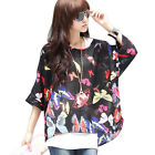 New Fashion Womens T-shirts Bohemian Short Batwing Sleeve Chiffon Tops Blouses