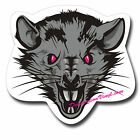 2 x Glossy Vinyl Stickers - Evil Scary Rat Cool Laptop Decal #0102