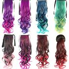 Hair Piece Full Head Clip in Long Curly Ribbon Ponytail Gradation Hair Extension