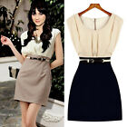 Women's OL style Slim Fit Casual Crew Neck Sleeveless WEAR TO WORK Home Dress
