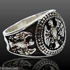 Bronze Ring Silver Plated Eagle Motif, Animal of the Fight Bird of Zeus