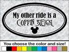 My Other Ride is a COFFIN SLEIGH Nightmare Before Christmas Decal Truck Mickey