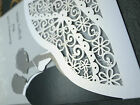 One sets sample Laser cut Shimmer wedding invitations POCKET with insert cards