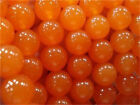 "6mm-10mm Rare Orange South America Topaz Round Gems Loose Beads 15"" AAA"