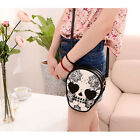 Europe Mini-package Punk Skull Print Coin Purse Womens Handbag Bag   [HA]