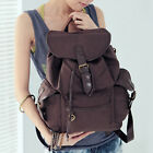 Fashion New Men Women Vintage Canvas Backpack Rucksack School Satchel Hiking Bag