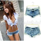 Summer Women's Vintage High Waist Denim Shorts Women Jeans Low Waist Sexy