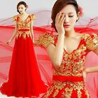 New Long Formal Wedding Prom Party Bridesmaid Evening Ball Gown Dress Red L153