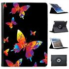 Rainbow Splash colour Butterflies Folio Wallet Leather Case For iPad Air & Air 2