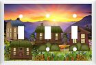 ROCKY MOUNTAIN SUNSET RUSTIC LOG CABINS HOME DECOR SWITCH OR OUTLET COVER V649