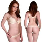 Sexy Cream Underwire Bra & Thong G-string Knickers Pants Lingerie Underwear set