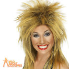 Ladies Rock Diva Ginger Wig 80s Mullet Punk Fancy Dress Costume Accessory New