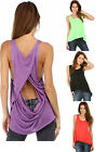 Sexy OPEN BACK Hi-Lo PLUS SIZE Tank Top Blouse XL/1X/2X/3X  FREE SHIPPING